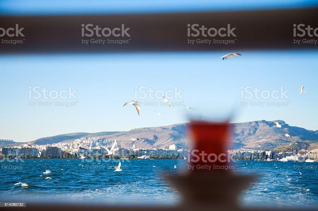 izmir karsiyaka coasts view stock photo