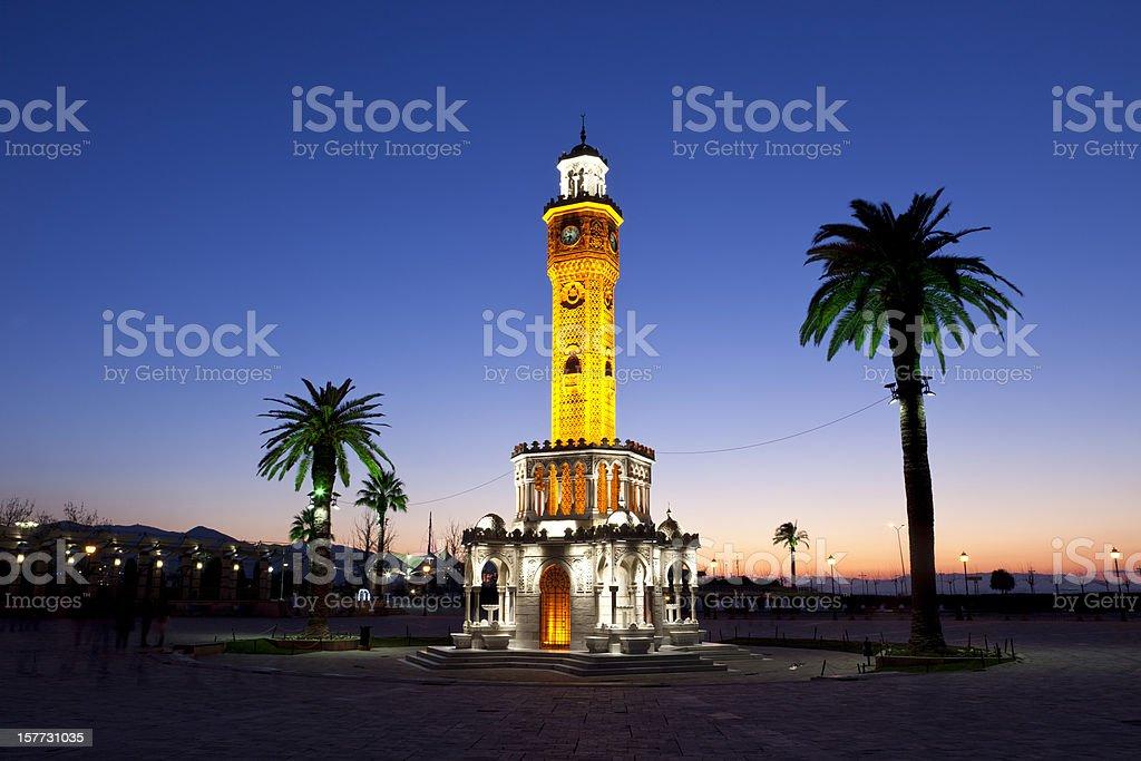 izmir saat kulesi stock photo
