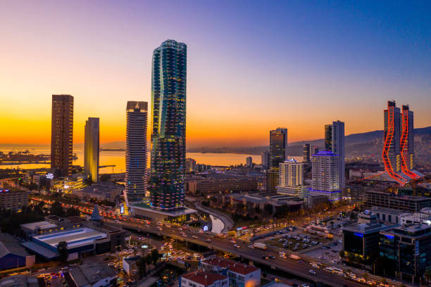 Izmir skyline. stock photo