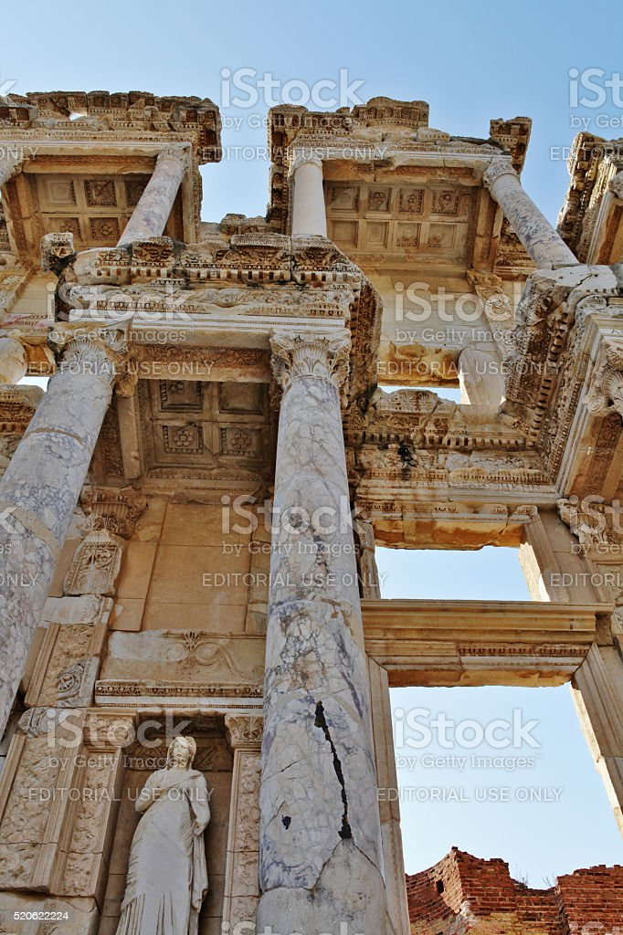 Izmir, Turkey - March 09, 2012 - Celsus library in Ephesus stock photo