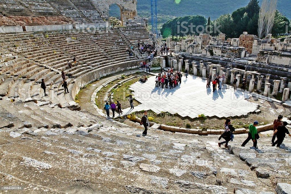 Izmir, Turkey - March 09, 2012 - Ruins city of Ephesus stock photo