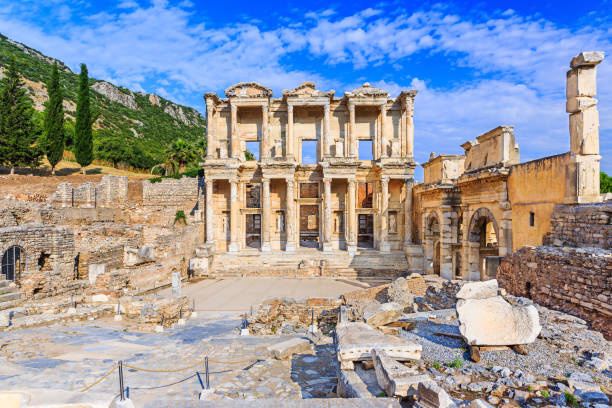 Izmir, Turkey. Izmir, Turkey. Library of Celsus in Ephesus Ancient city. celsus library stock pictures, royalty-free photos & images
