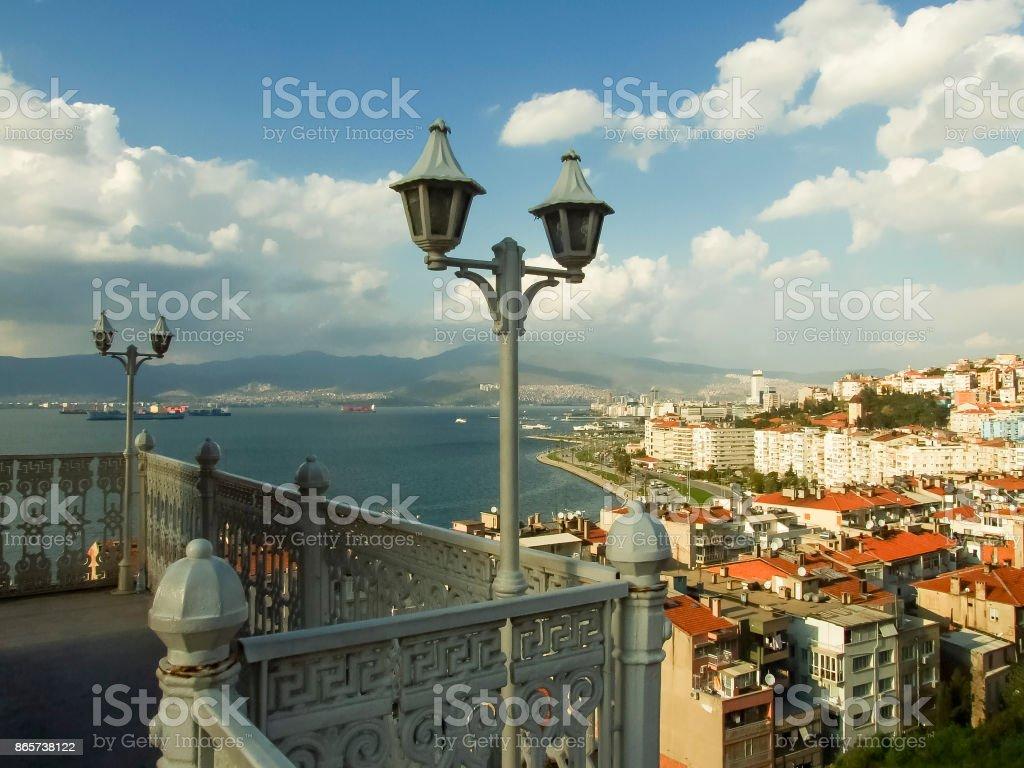 Izmir view from Asansor stock photo