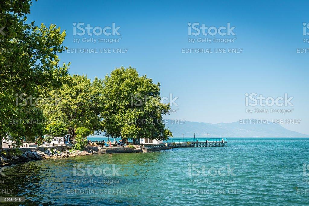 Iznik lake in Turkey Lizenzfreies stock-foto