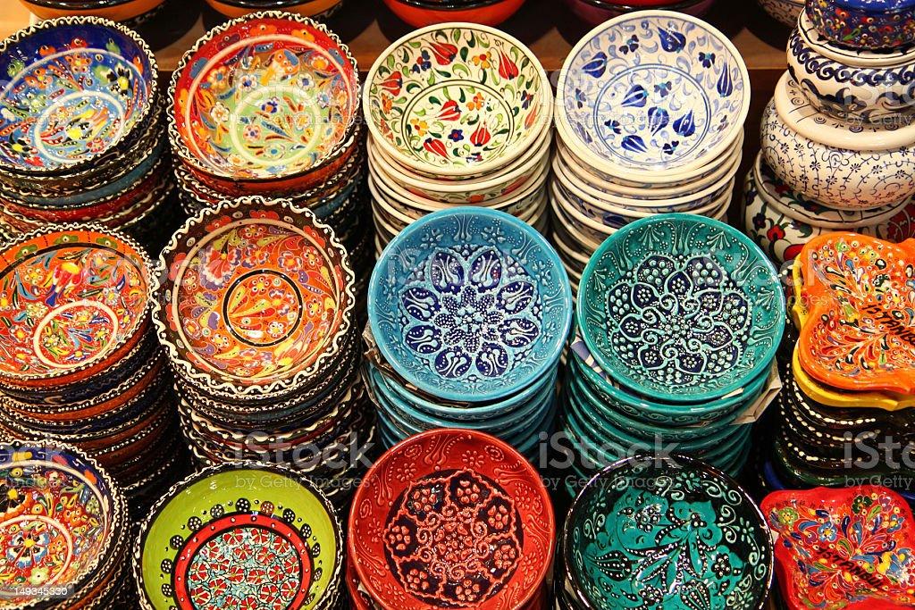 iznik pottery royalty-free stock photo
