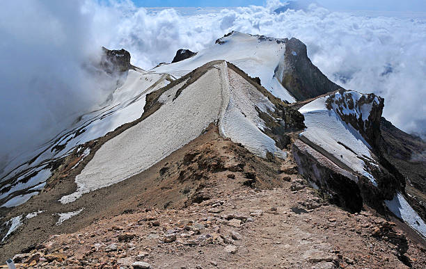 Iztaccihuatl view from summit, Glacial Terrain, Trans-Mexican Volcanic Belt, Mexico Iztaccihuatl view from summit, Glacial Terrain, Trans-Mexican Volcanic Belt, Mexico orizaba stock pictures, royalty-free photos & images