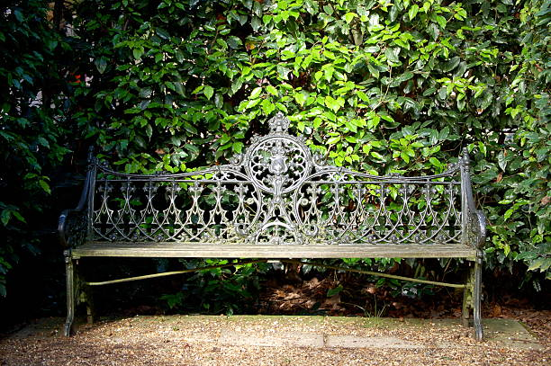 Incredible Hidden Secret Garden Bench Stock Photos Pictures Royalty Andrewgaddart Wooden Chair Designs For Living Room Andrewgaddartcom