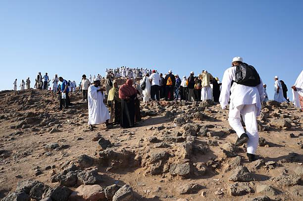 jebel uhud est un endroit historique dans l'histoire de l'islam. - omra photos et images de collection