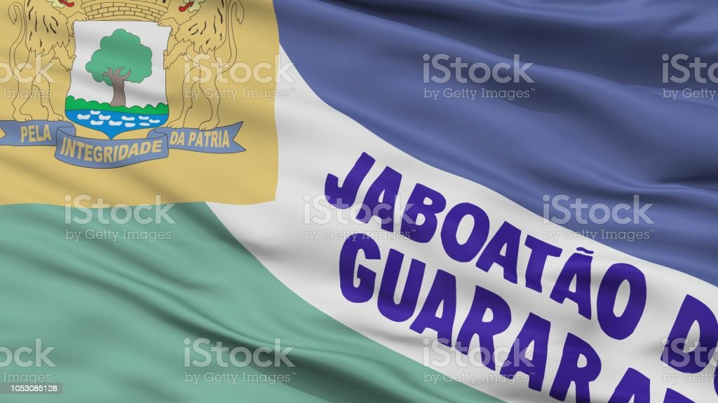 Jaboatao Dos Guararapes cidade bandeira, Brasil, estado de Pernambuco, Closeup View - foto de acervo