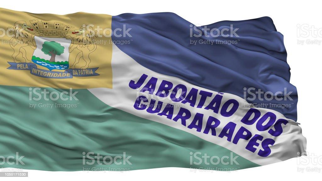 Jaboatao Dos Guararapes cidade bandeira, Brasil, estado Pernambuco, isolado no fundo branco - foto de acervo
