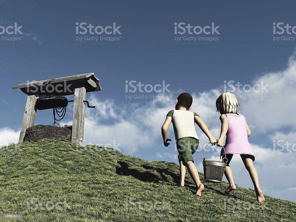 Jack and Jill royalty-free stock photo