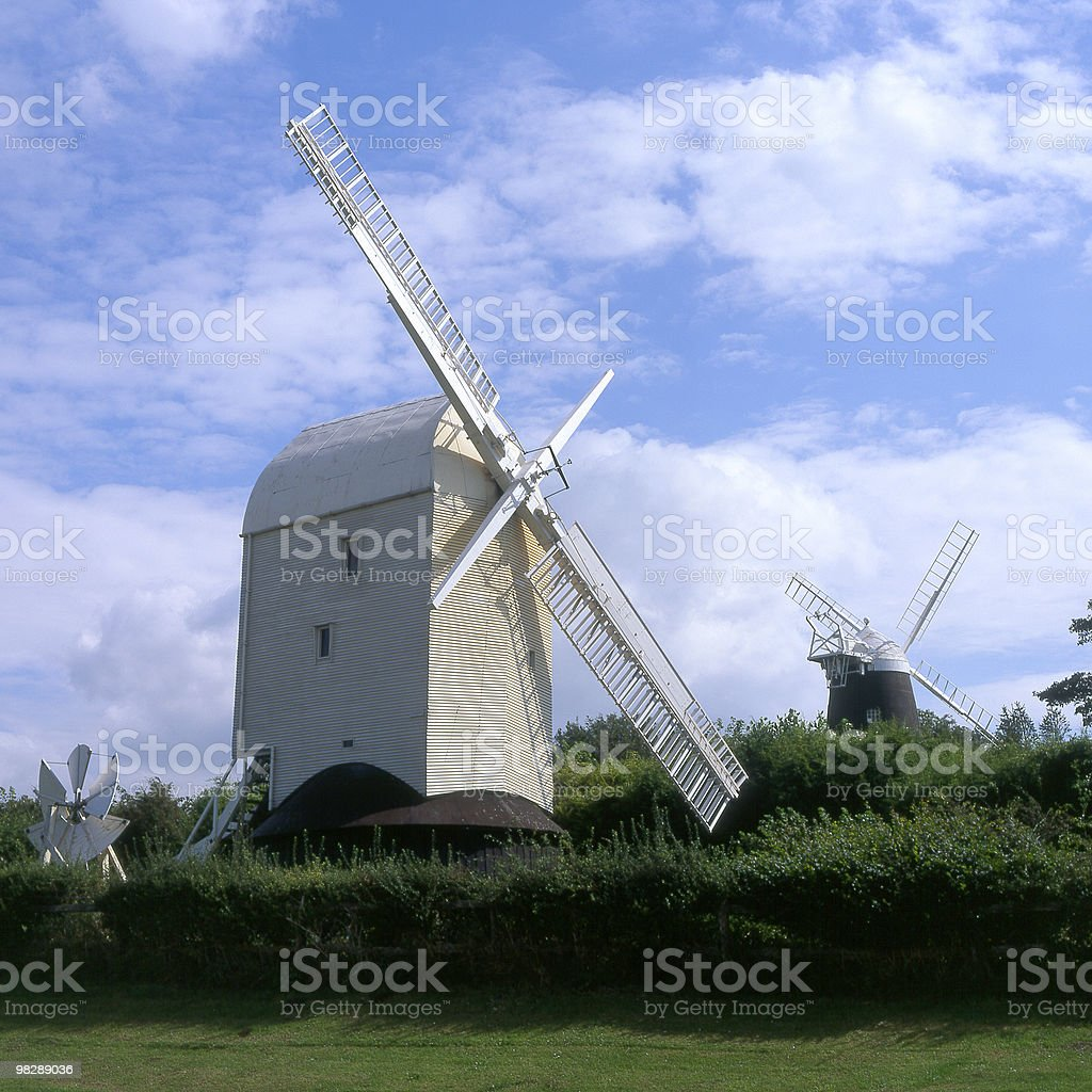 Jack and Jill Windmills. Clayton. Brighton. England royalty-free stock photo