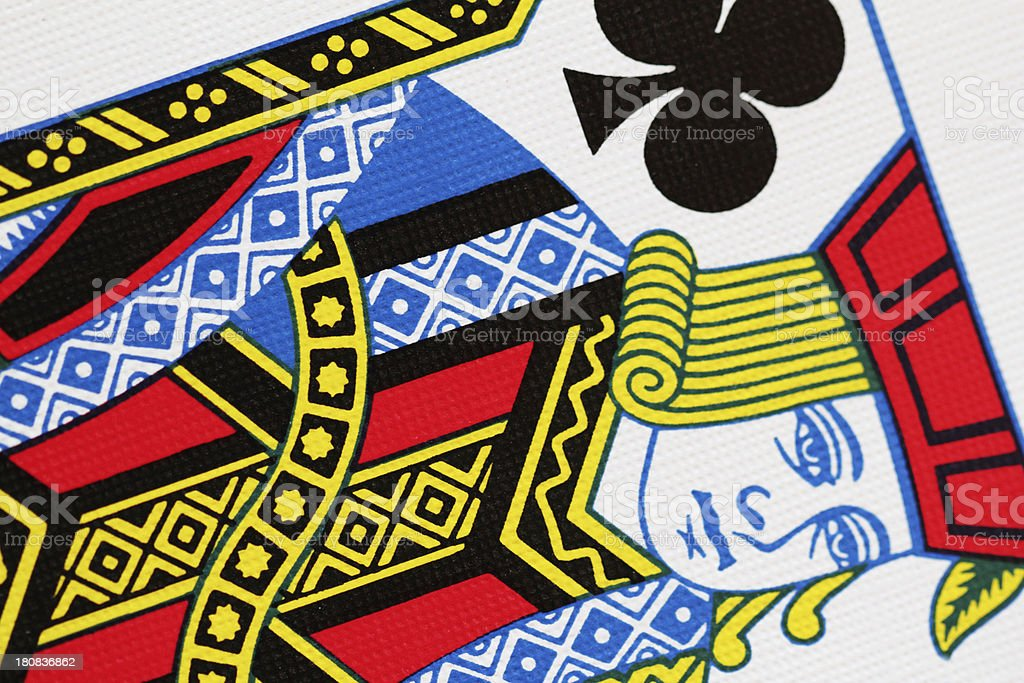 Jack Club Playing Card Close Up stock photo