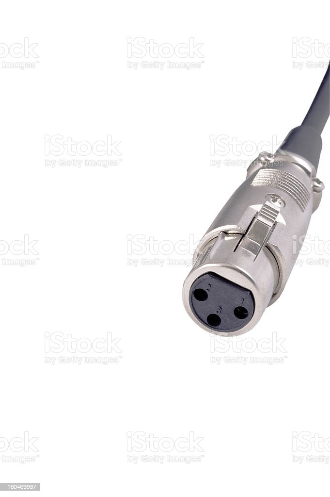 Jack connector royalty-free stock photo