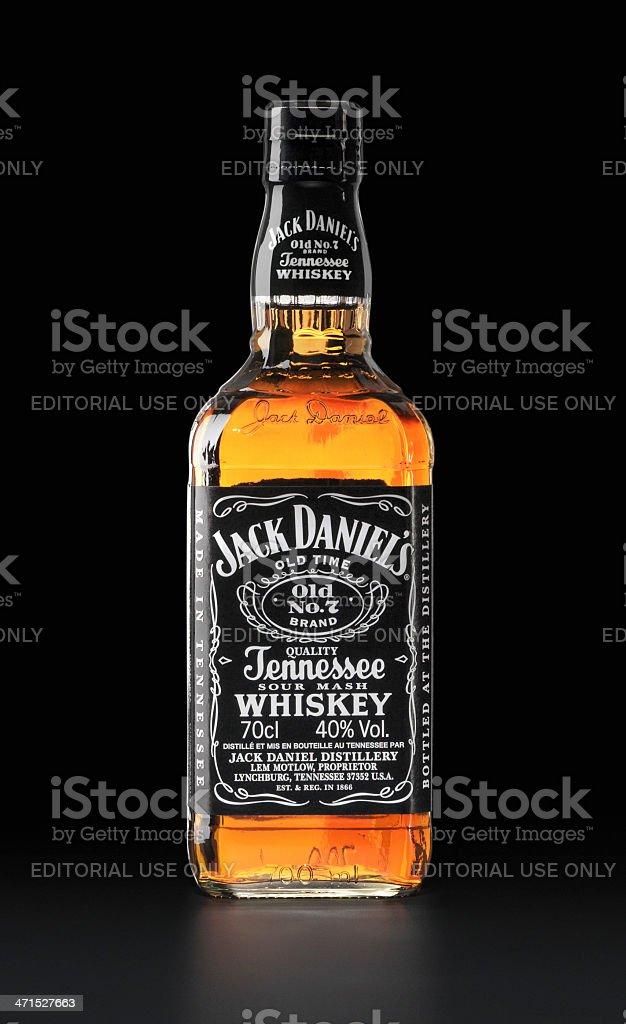 Frasco de Jack Daniel's - foto de stock