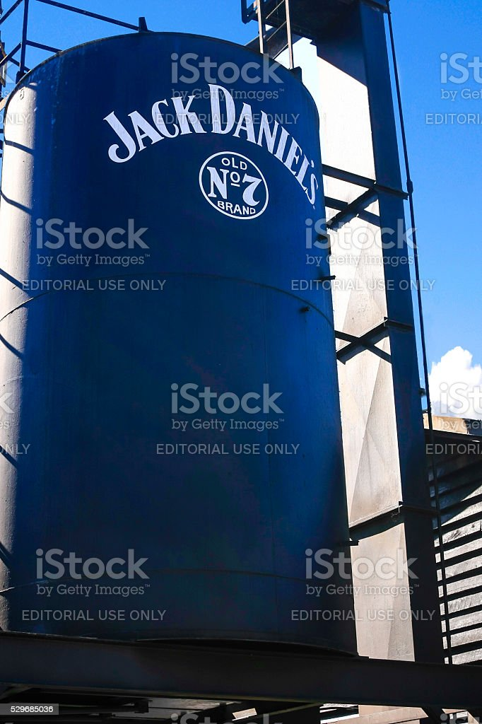 Jack Daniels Old No.7 distillery storage in Lynchburg Tennessee stock photo