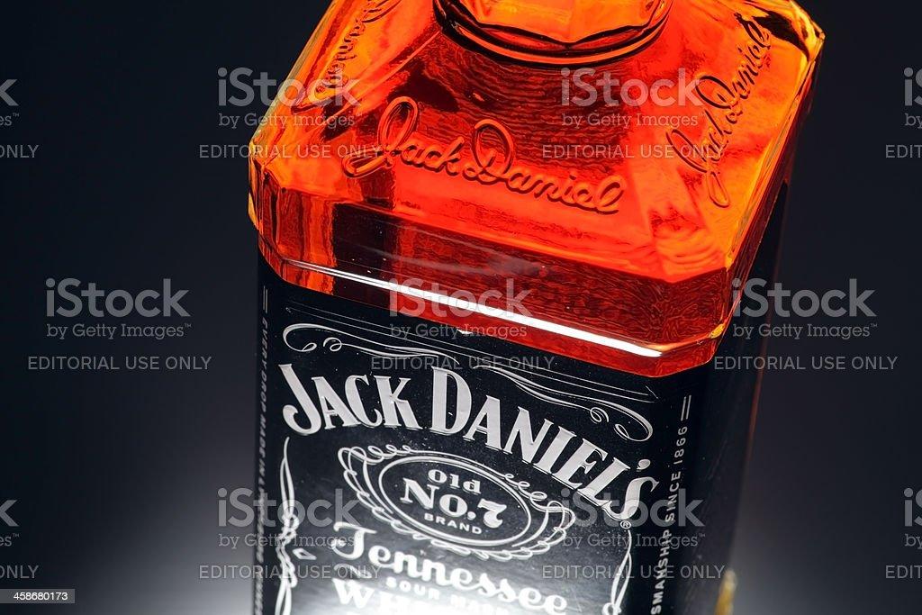 Jack Daniel's botella de whisky Detalles - foto de stock