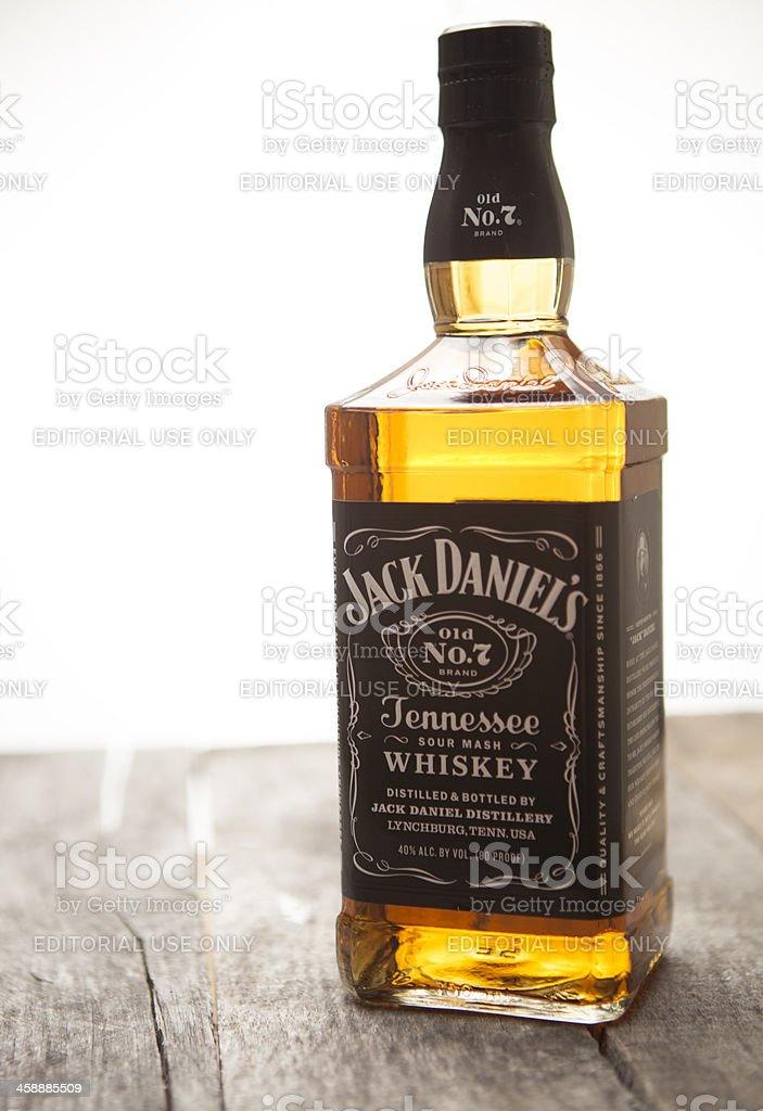 Jack Daniel's botella de whisky - foto de stock