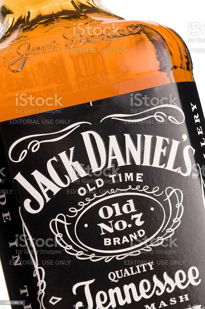 Jack Daniel's whiskey bottle royalty-free stock photo