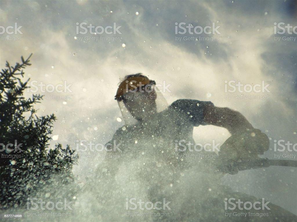 Jack Hammering stock photo