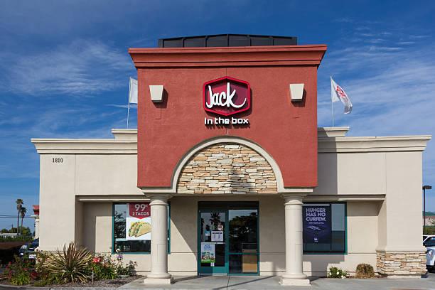 Jack in the Box Restaurant exterior stock photo