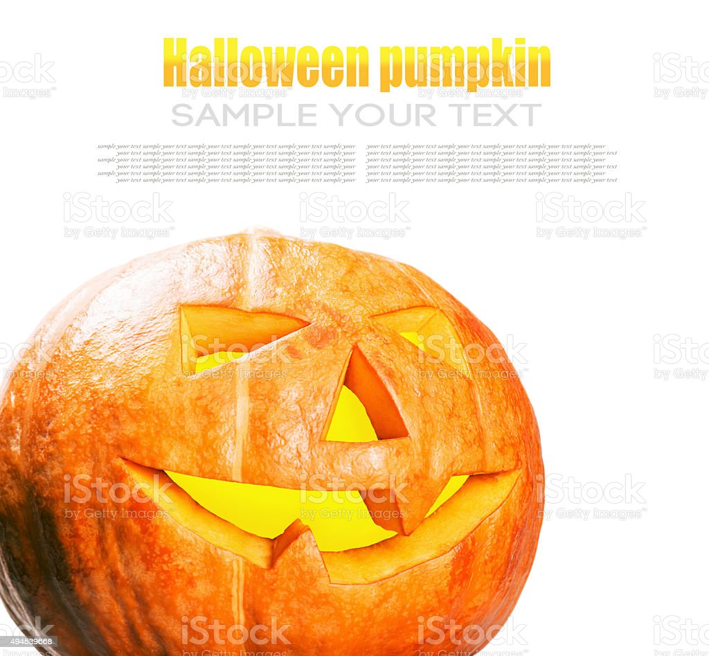 Jack lantern pumpkin for Halloween stock photo
