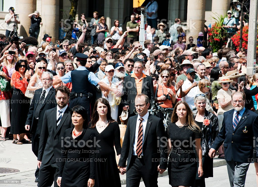 Jack Layton's Family, Funeral Procession stock photo
