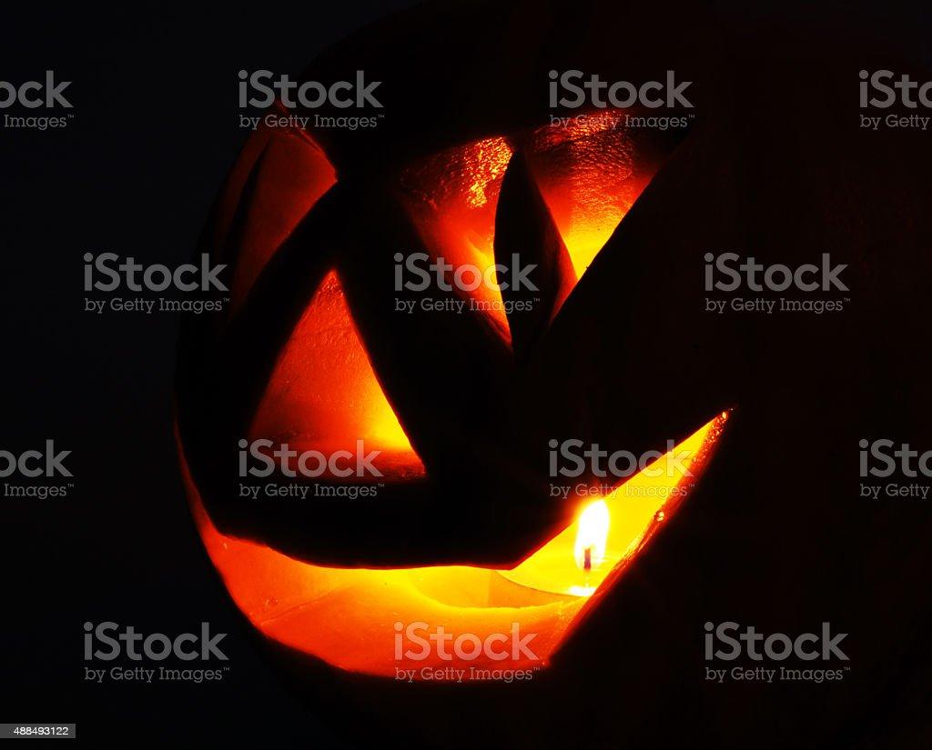 Jack O Lantern In the dark stock photo
