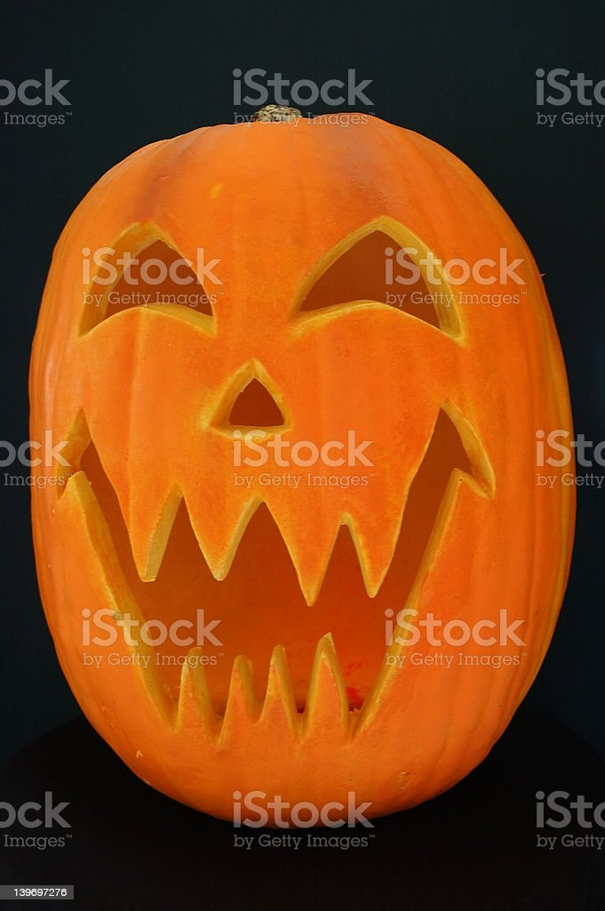 Jack O Lantern Pumpkin royalty-free stock photo