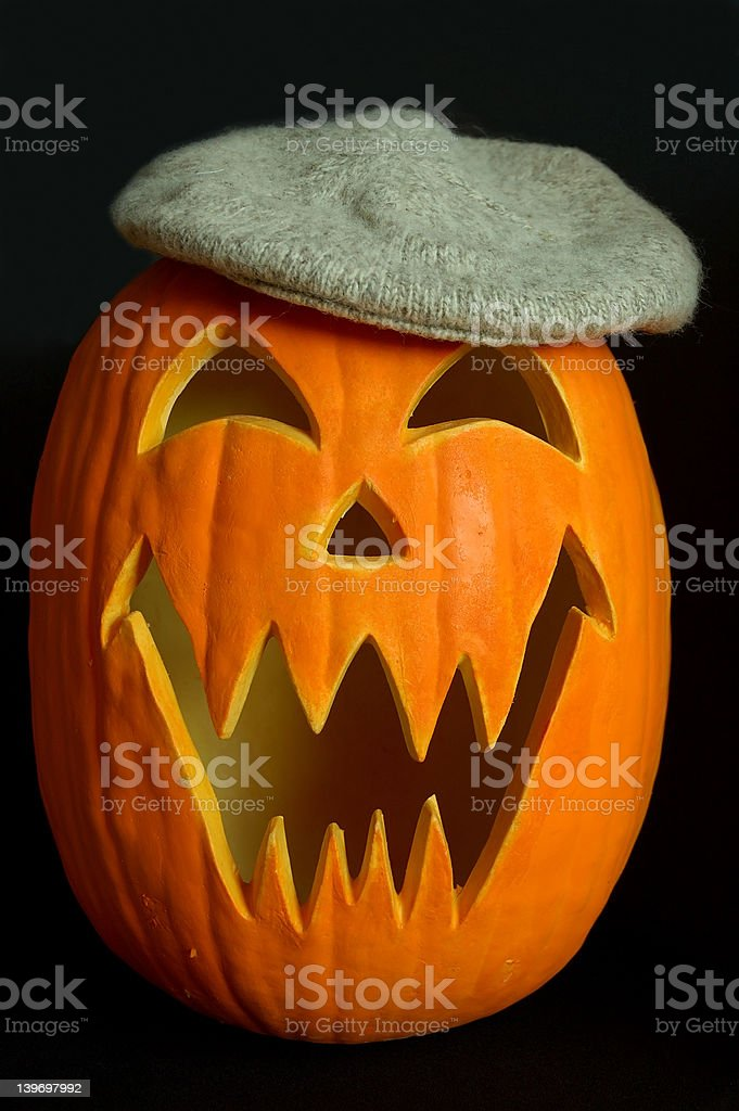 Jack O Lantern Tam royalty-free stock photo