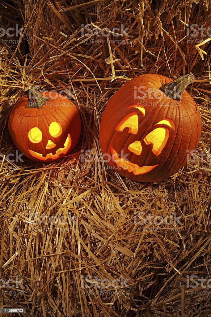 Jack O Lanterns Vertical royalty-free stock photo
