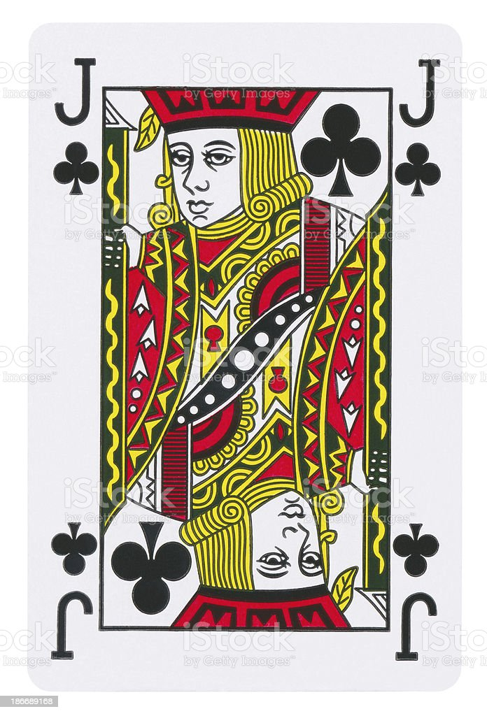 Jack Of Clubs Isolated (clipping path included) stock photo