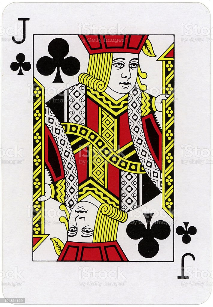 Jack Of Clubs stock photo