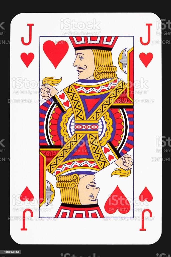 Jack of hearts stock photo