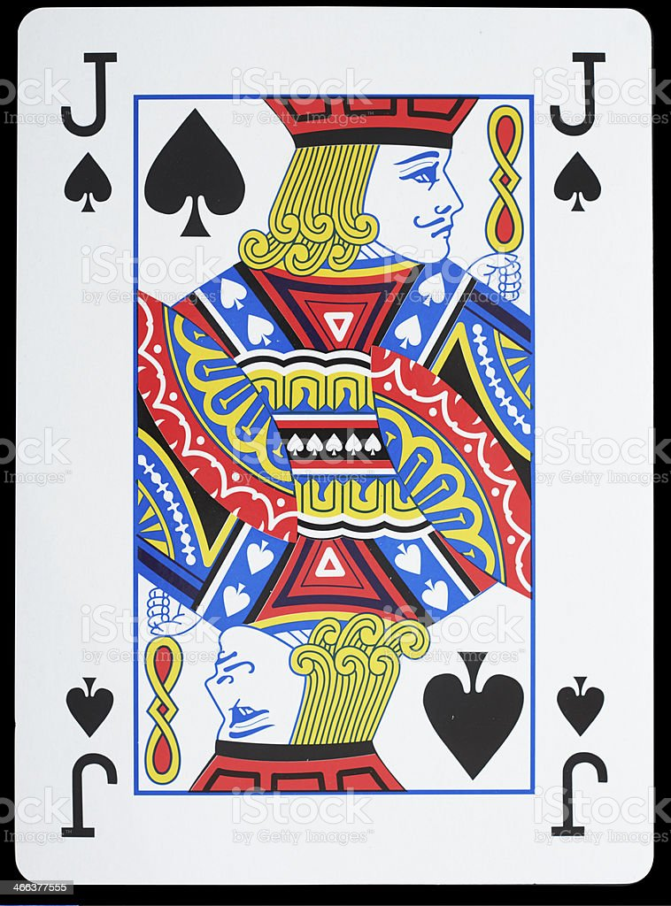 Jack of Spades stock photo