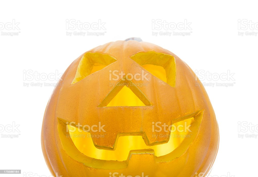 jack O'Lantern Pumpkins -  Halloween decoration royalty-free stock photo