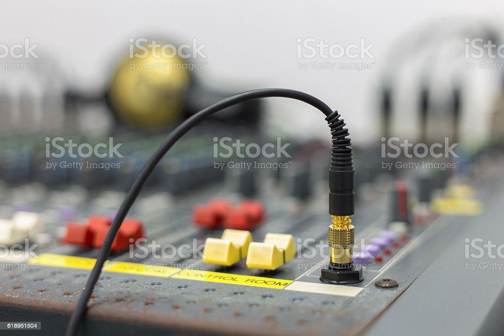 Conector jack - foto de stock