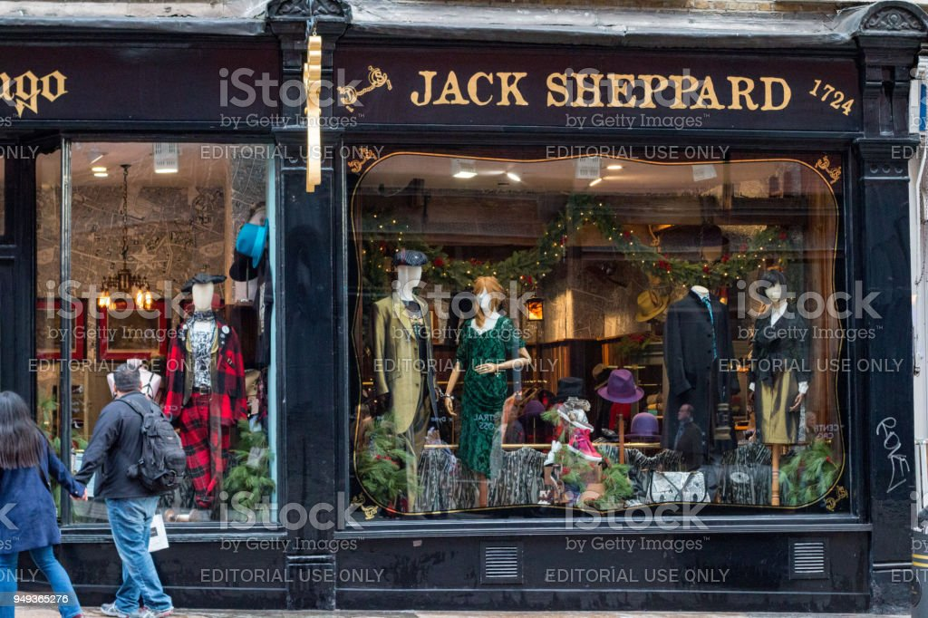 Jack Sheppard in Charing Cross Road, London stock photo