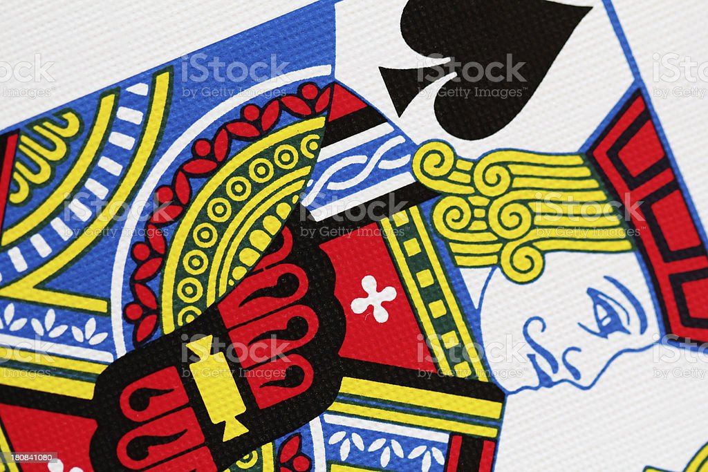 Jack Spades Playing Card Close Up royalty-free stock photo