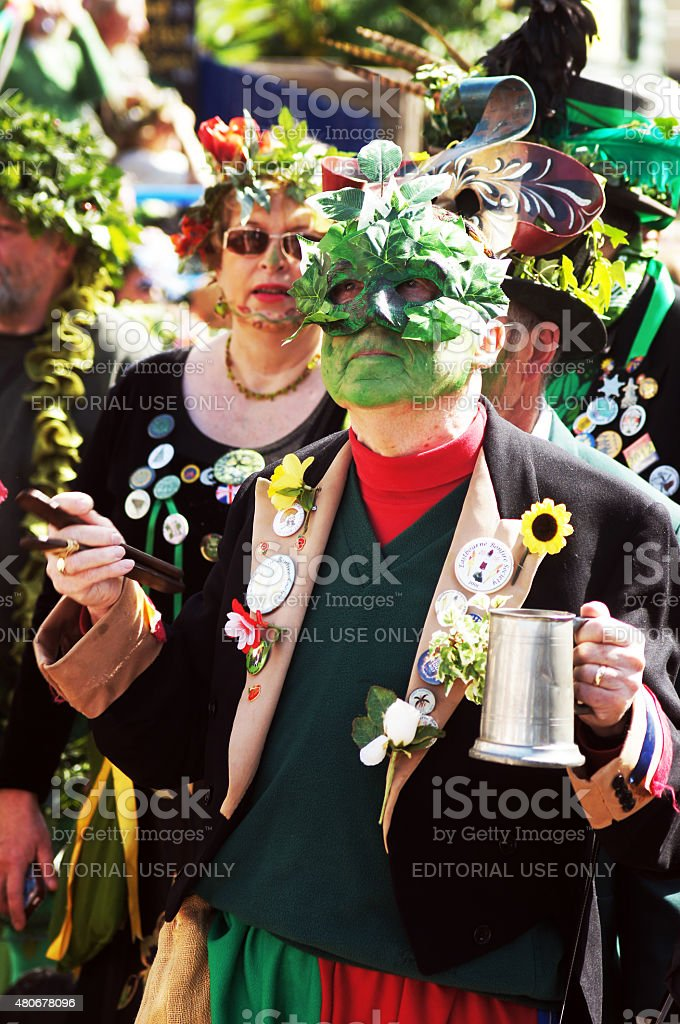 Jack the Green Festival in Hastings, UK stock photo