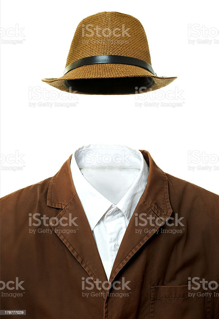 Jacket and hat stock photo