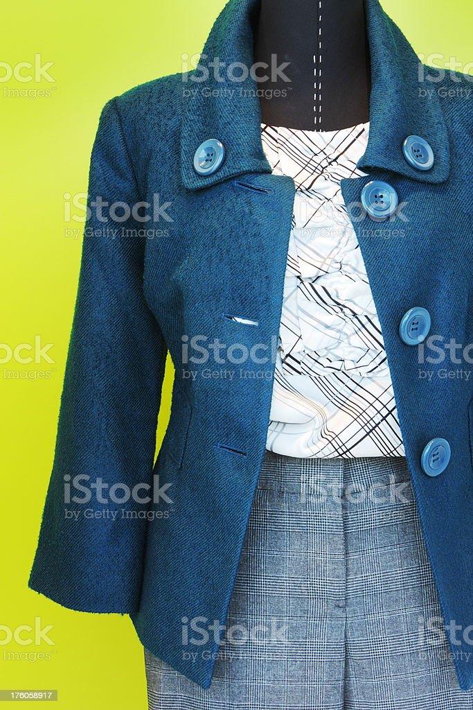 Jacket Blouse Pants Fashion Female Clothing royalty-free stock photo