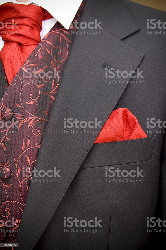 jacket of groom royalty-free stock photo