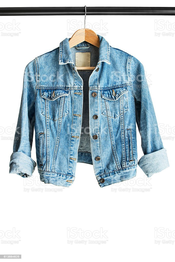Jacket on clothes rack stock photo