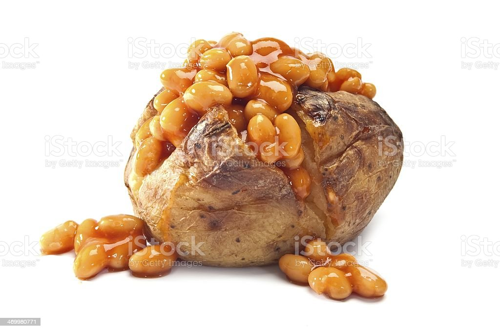 Jacket Potato with Beans royalty-free stock photo