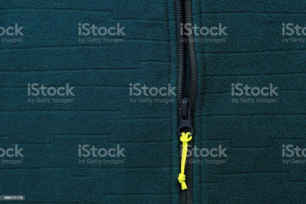 Jacket with zipper close-up stock photo