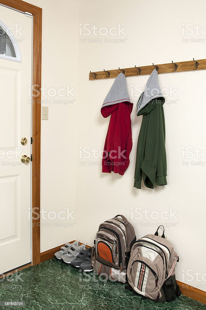 Jackets  and Backpacks by Backdoor stock photo