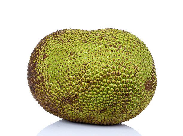 Jackfruit isolated on white background stock photo