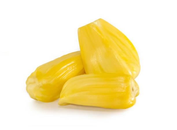 jackfrüchte isoliert auf weiss - jackfrucht stock-fotos und bilder