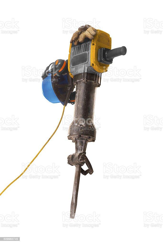 jackhammer isolated stock photo